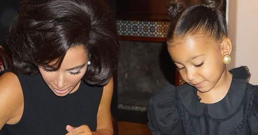 Kim Kardashian had nice things to say about her daughter North.