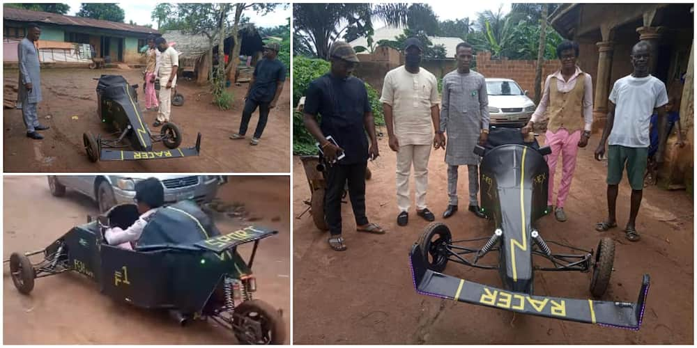 Talented Nigerian Teen who Built Motorbike that looks Like Helicopter, Machines Gets Scholarship