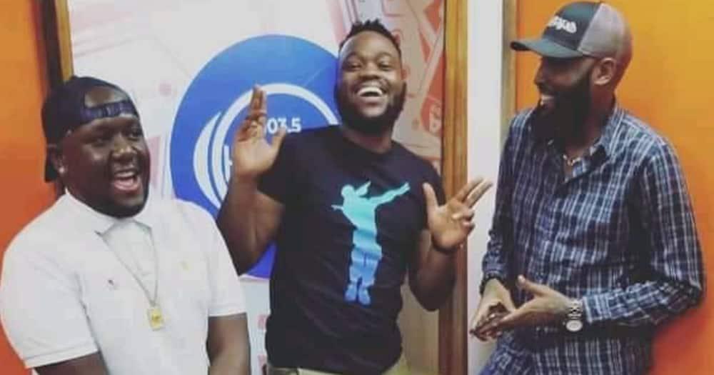The embattled Homeboyz Radio trio; DJ Joe Mfalme (l) Neville (centre) and Shaffie Weru. Photo: Homeboyz Radio.
