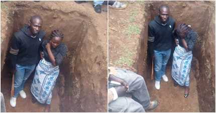 Angry relatives jump into grave to stop murdered kin's burial in Nakuru