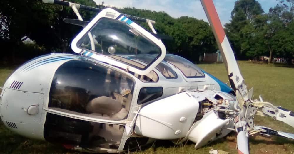 Video Showing Raila Odinga's Helicopter Crash in Gem Emerges