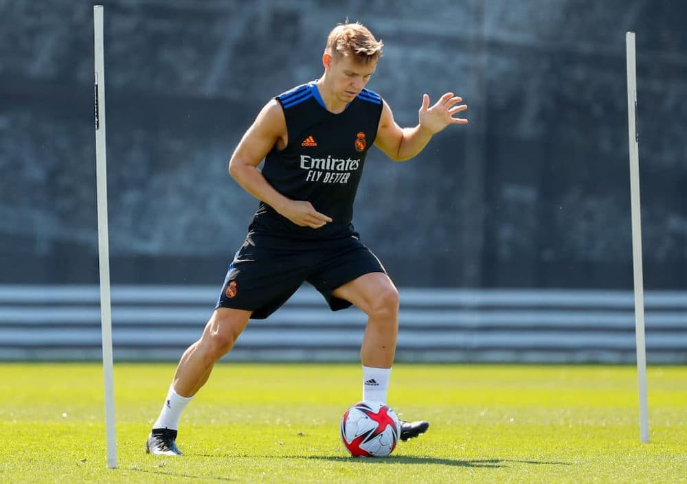 Martin Odegaard during one of Real Madrid's training sessions at Valdebebas training ground in July. Photo by Antonio Villalba/Real Madrid.