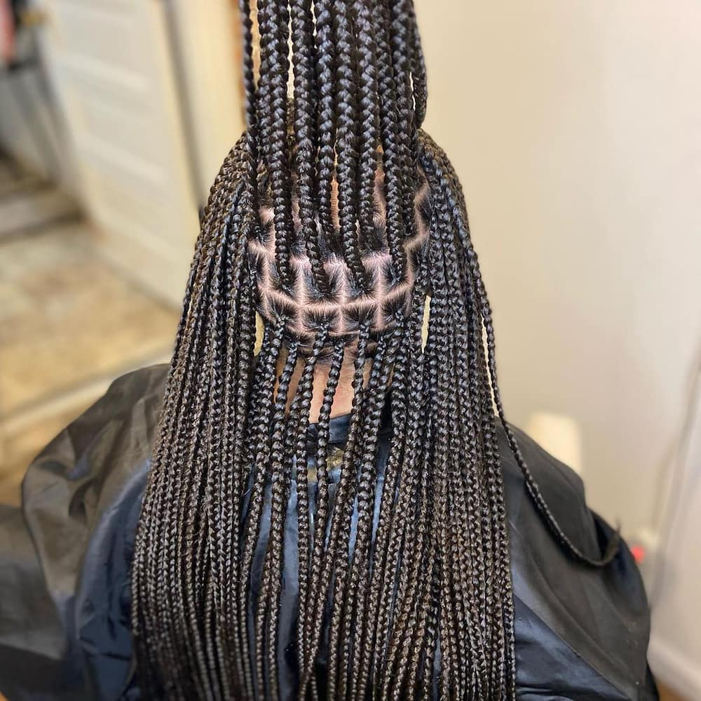 Knotless braids.