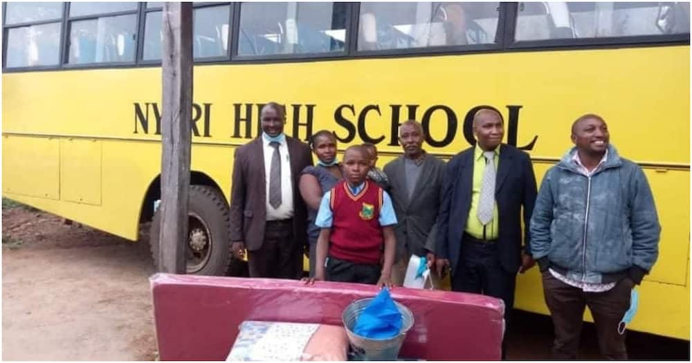 Wellwishers came to the resue of David Muchangi and saw him admitted to Nyeri High School.