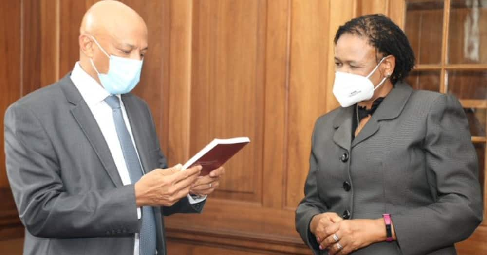 Chief Justice Martha Koome and EACC boss Twalib Mbarak. Photo: Martha Koome.