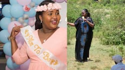 Almost there: Naisula Lesuuda posts lovely photo of herself glowing during baby shower