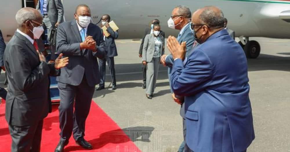 Uhuru Kenyatta Arrives in Djibouti for President Ismail Guelleh's Inauguration