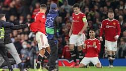 Pitch Invader Tackled to The Ground After Grabbing Cristiano Ronaldo's Shirt During Atalanta Comeback