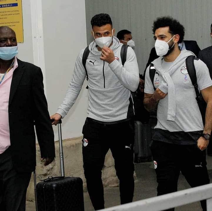 Liverpool star Mo Salah gets 4 bodyguards after arriving for Egypt vs Kenya's AFCON 2022 qualifier