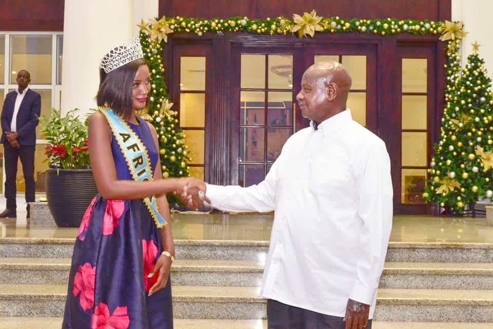 Yoweri Museveni concerned newly crowned miss Africa is not proud of her African hair, prefers weaves