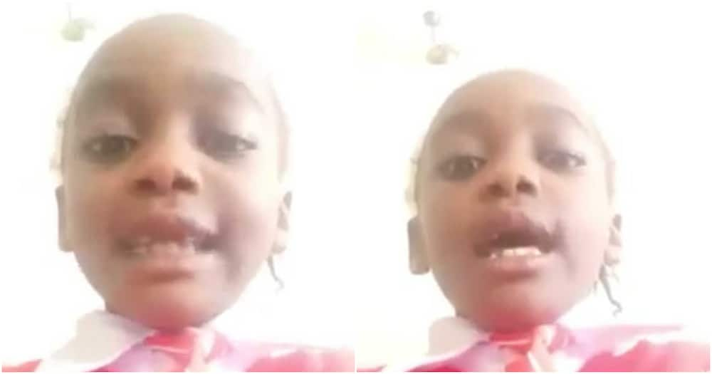 """Kenyans amused by young Eldoret pupil with cute Kalenjin accent:""""Naitwa Waithera Chebet """""""