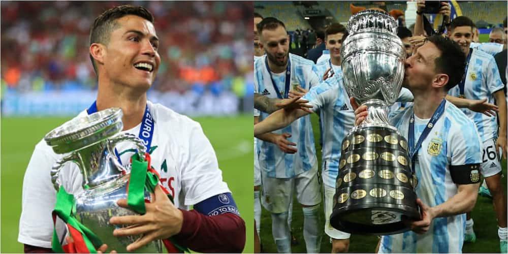 Ronaldo's Euro 2016 and Messi's Copa America victories compared.