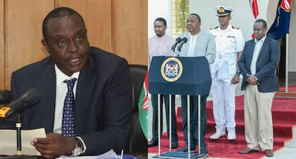 Treasury CS Henry Rotich's baggy trouser steals show as Uhuru announces new maize price