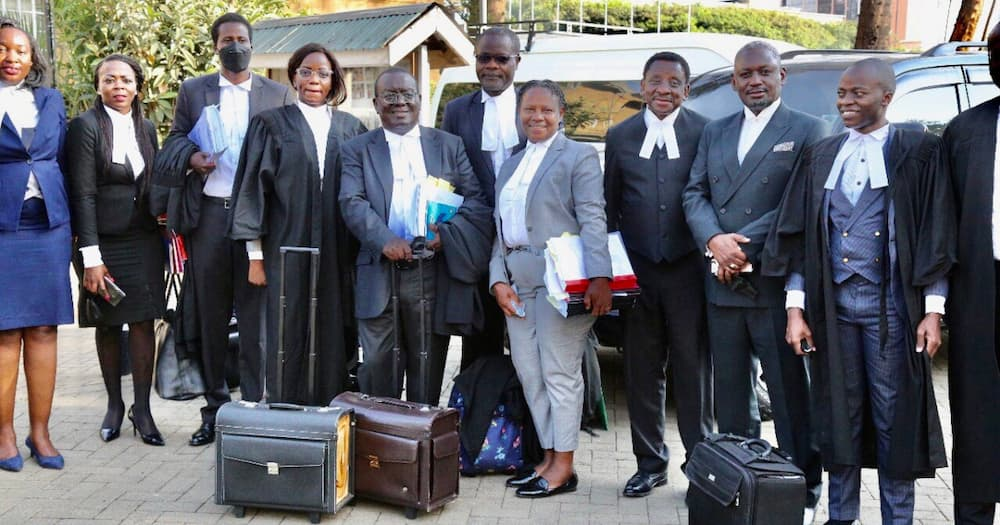 Pro-BB advocates after the final day of the appeal hearing. Photo: Otiende Amollo.