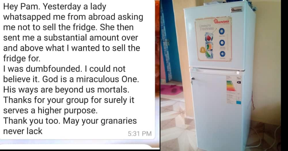 Kenyan woman who wanted to sell fridge due to financial crisis receives help from stranger