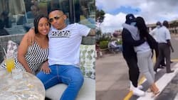 Otile Brown Reunites with Ethiopian Bae Nabayet at Airport as She Arrives to Be with Singer