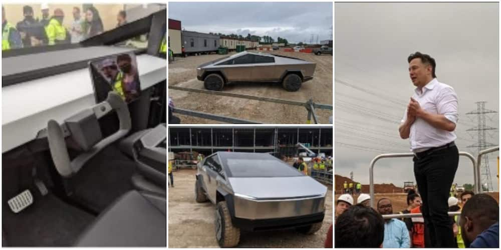 Elon Musk Visits His Workers in Cybertruck and a Punk Hairstyle, Surprises Them as Photos go Viral
