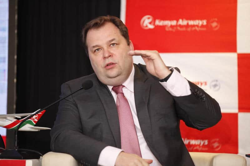 KQ boss Mikosz lands himself in trouble for claiming Kenyan pilots among best paid
