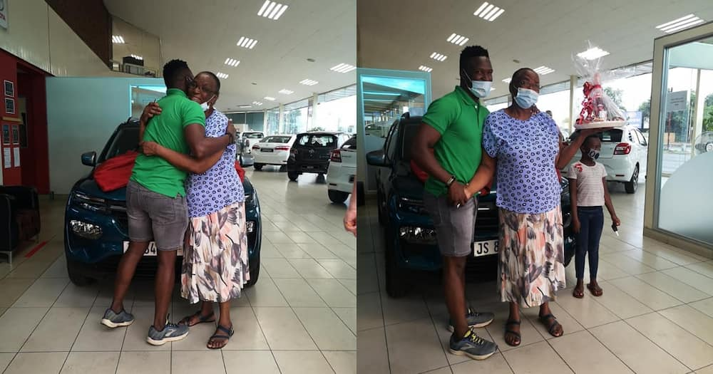 """""""I am who I am today because of you"""": SA man thanks mom with new car"""