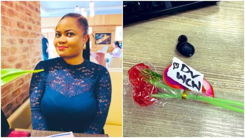 Colleague who is catching feeling for me at work sent stick sweet, Nigerian lady shows off