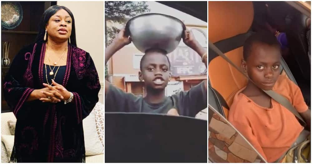 Waymaker indeed! Singer Sinach changes the life of little boy who hawks pure water, gives him scholarship