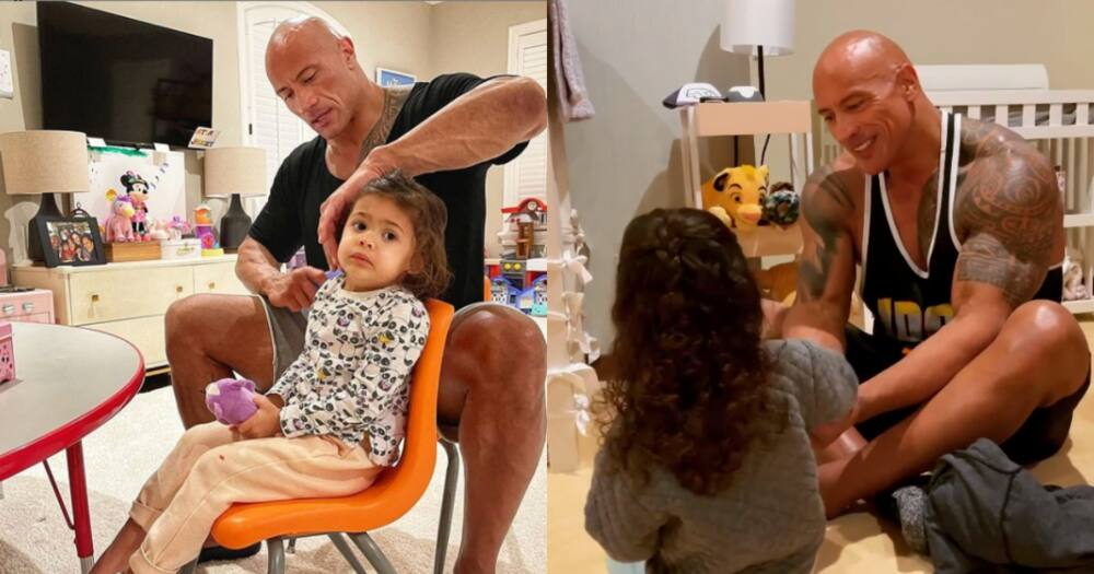 The Rock's adorable daughter declares she is powerful in cute clip
