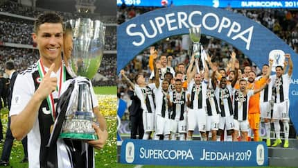 Ronaldo heads winner in Italian Super Cup final to lift first title with his new club