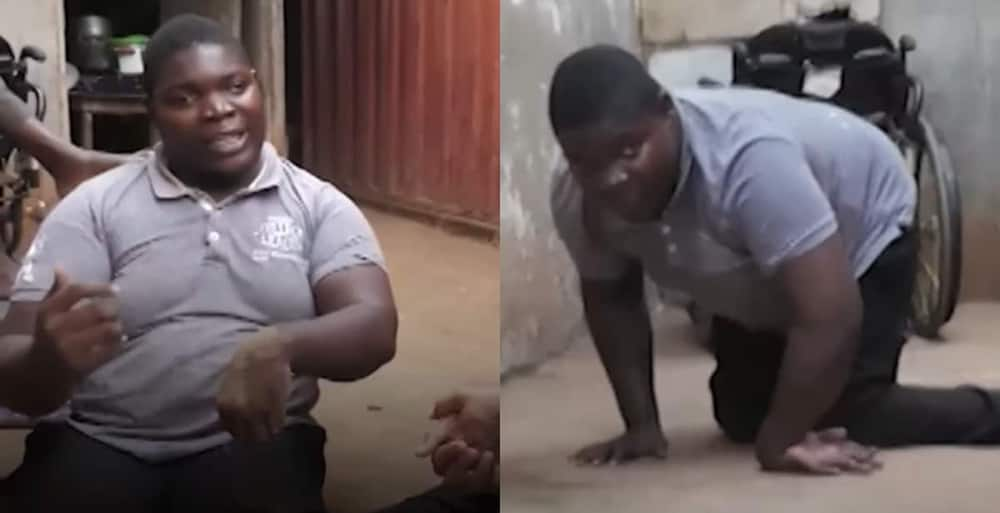 Physically Challenged Ghanaian boy Abandoned by both Parents asks God 3 Questions.