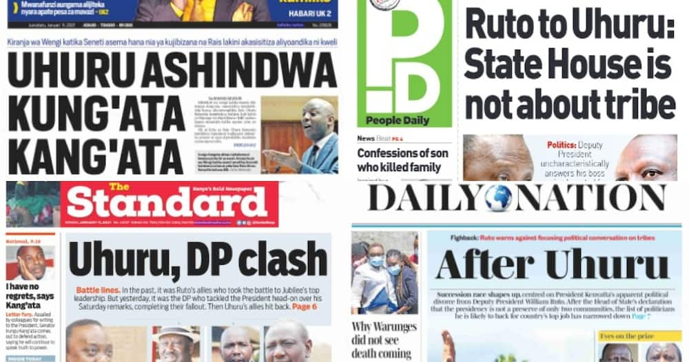 Kenyan newspapers review for January 11: Lawrence Simon Warunge, watched TV, ate food cooked by mother and slept on father's bed after killing family