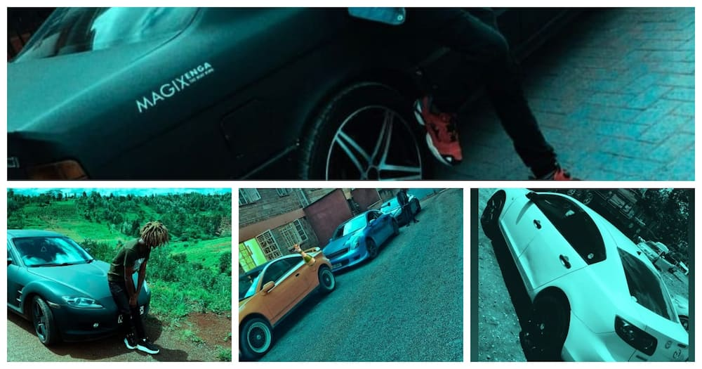 """Music producer Magix Enga shares his collection of cars: """"don't hate"""""""