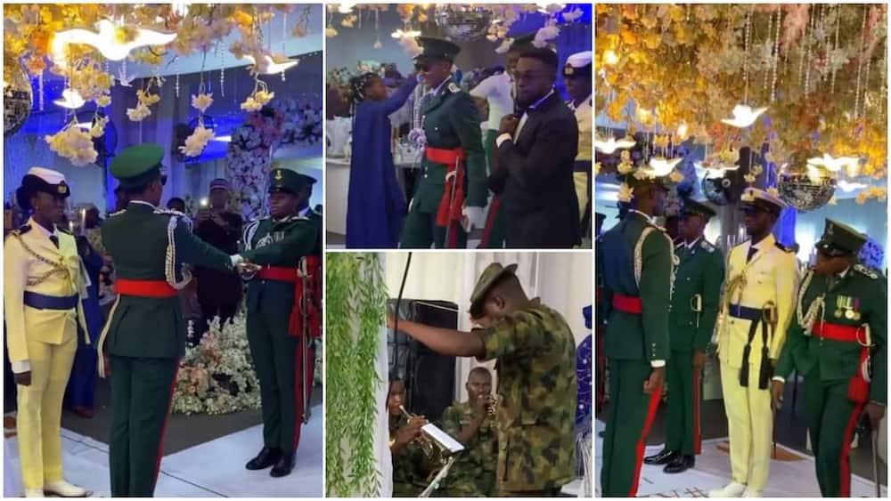 Wedding ceremony of a Nigerian female soldier