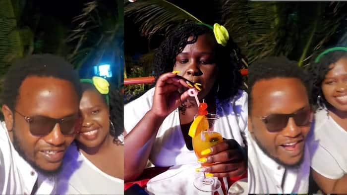 Prof Hamo Treats Second Wife Jemutai to Romantic Dinner at The Beach