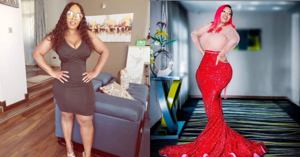 Risper Faith clothes new body in expensive gowns as she embraces tiny waist