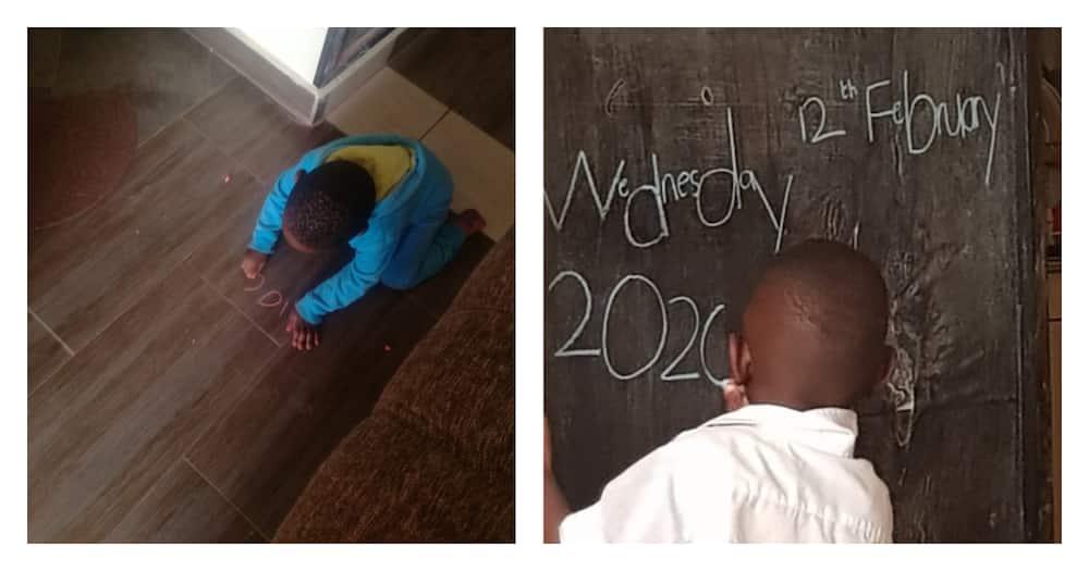 Kodjoe Mwobie: 5-year-old with photographic memory writes alphabets from 6 languages