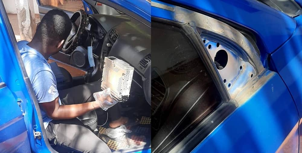 Thief caught after sleeping in a car he broke into. Photo: Gabby A BornRich.