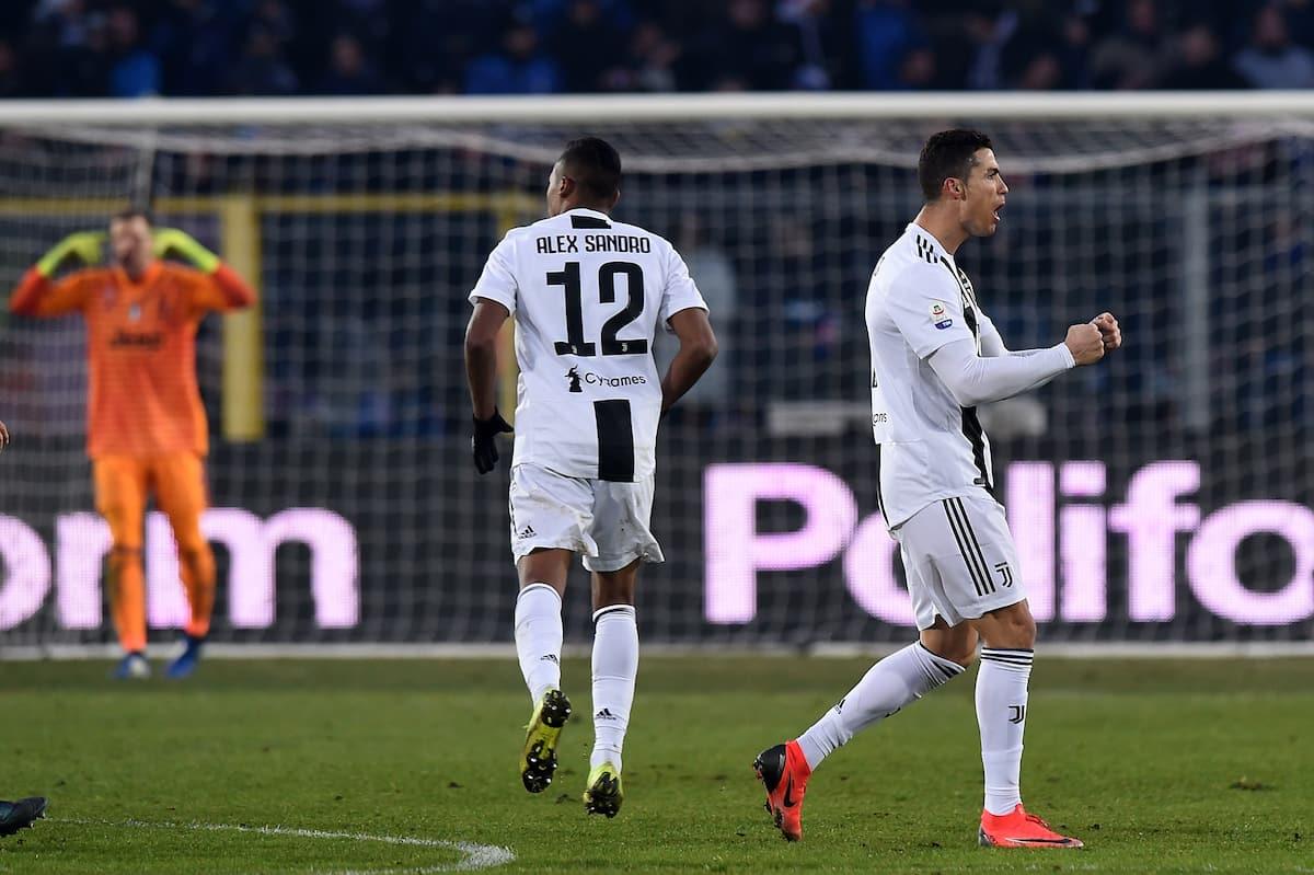 Ronaldo's second half goal rescues a point for 10-man Juventus against Atalanta