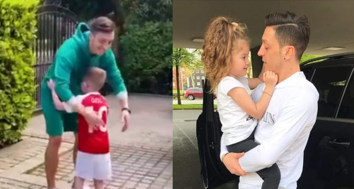 13 delightful photos capturing Arsenal star Mesut Ozil's immense adoration of children