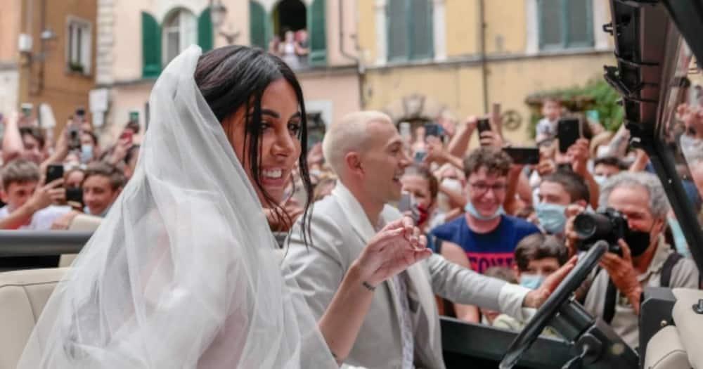 Bernardeschi's wedding to his wife.