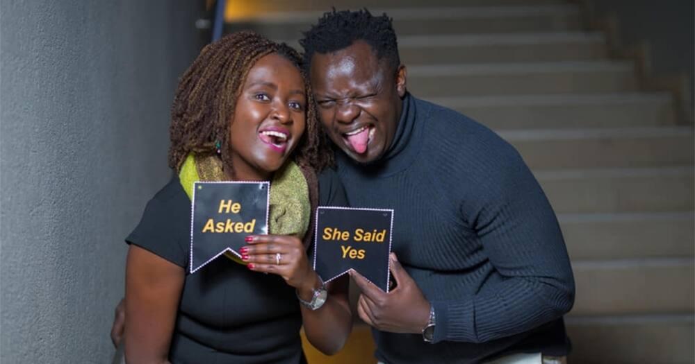 """BBC Journalist Ferdinand Omondi Gets Engaged to Lover Caroline Njeri: """"She Said Yes"""""""