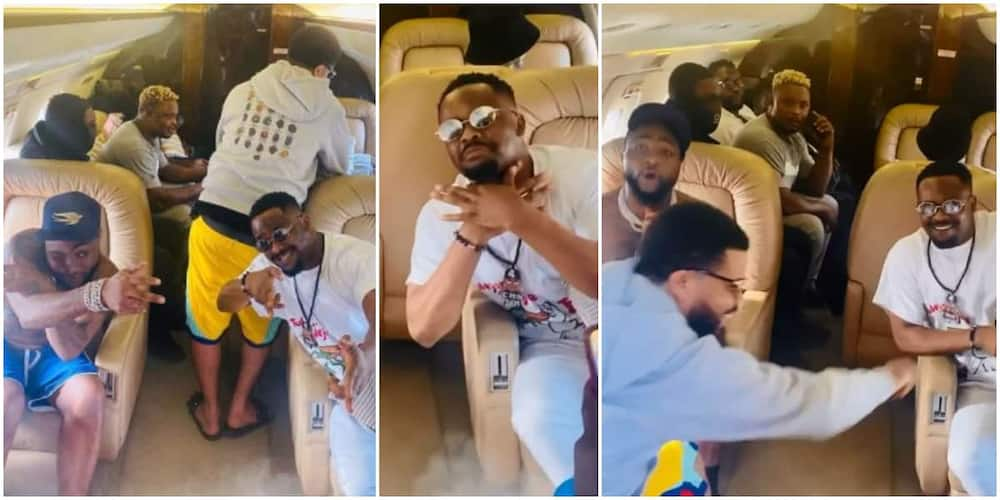 Actor Zubby Michael takes his first private jet trip.