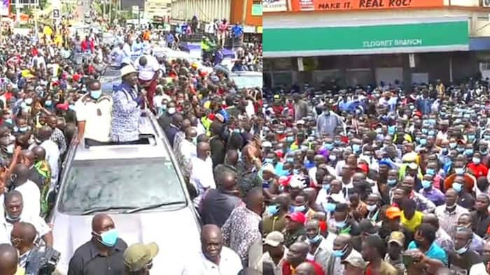 Raila Odinga Brings Eldoret Town to Standstill as Locals Accord Him Heroic Reception