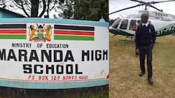 Fact Check: Maranda High School Student Pictured Posing with Helicopter Wasn't Dropped by Raila