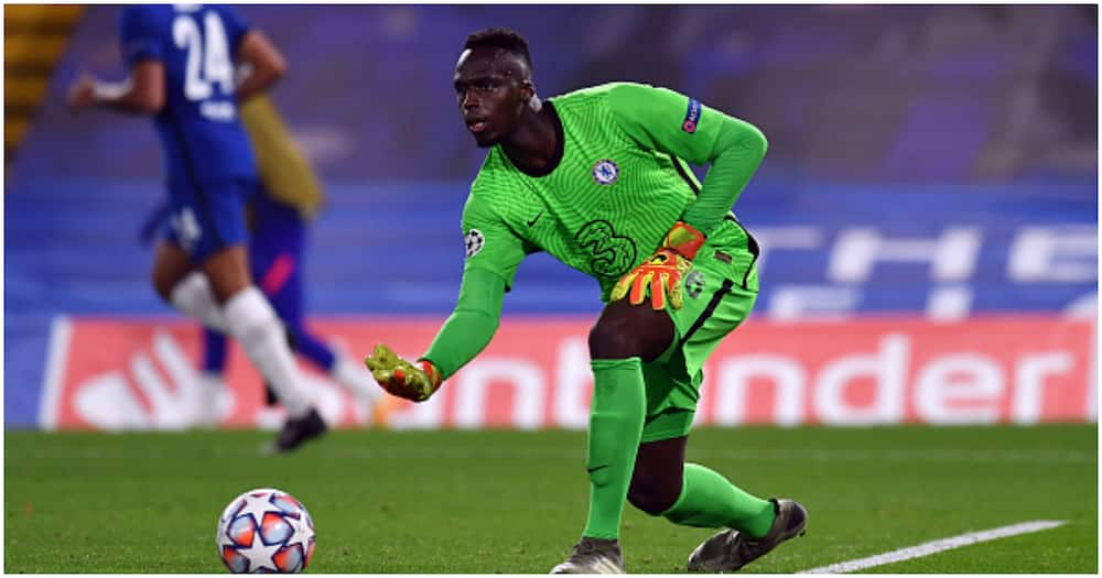 Edouard Mendy while in action for Chelsea. Photo: Getty Images.