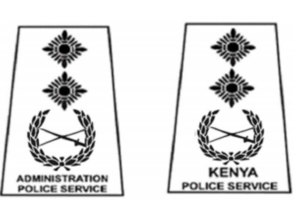 police ranks in Kenya