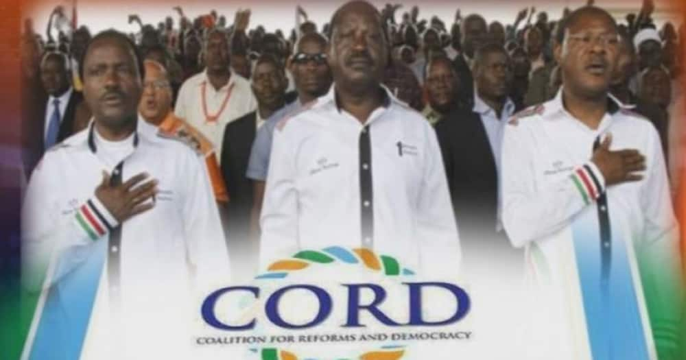 CORD was formed in the build-up to the 2013 General Election.
