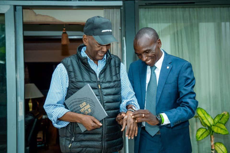 Marathon legend Eliud Kipchoge meets billionaire businessman Chris Kirubi