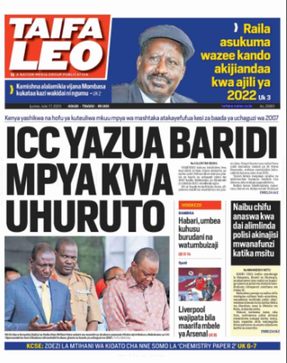 Magazetini Ijumaa, Julai 17: DP Ruto aibua njama mpya ya kuwanyamazisha na wahasimu wake