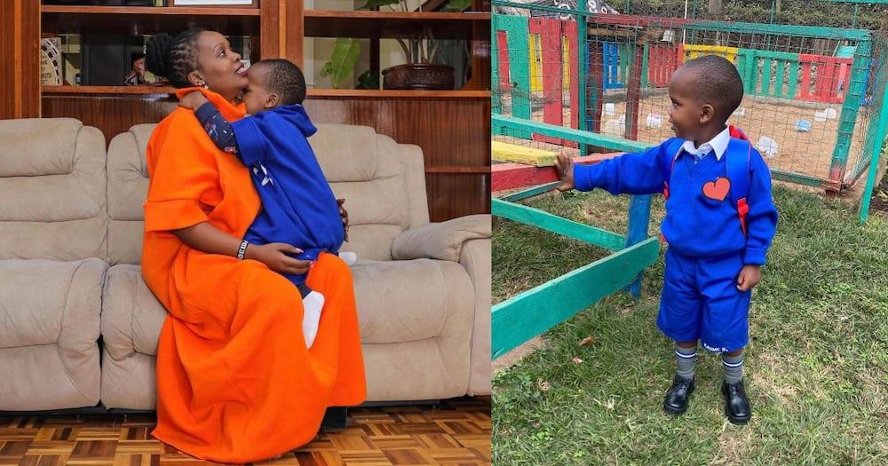KTN journalist Zubeidah Koome proud after son started school.