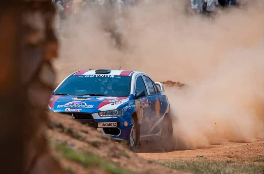 Ugandan rally driver ploughs into crowd as he escapes hitting thief