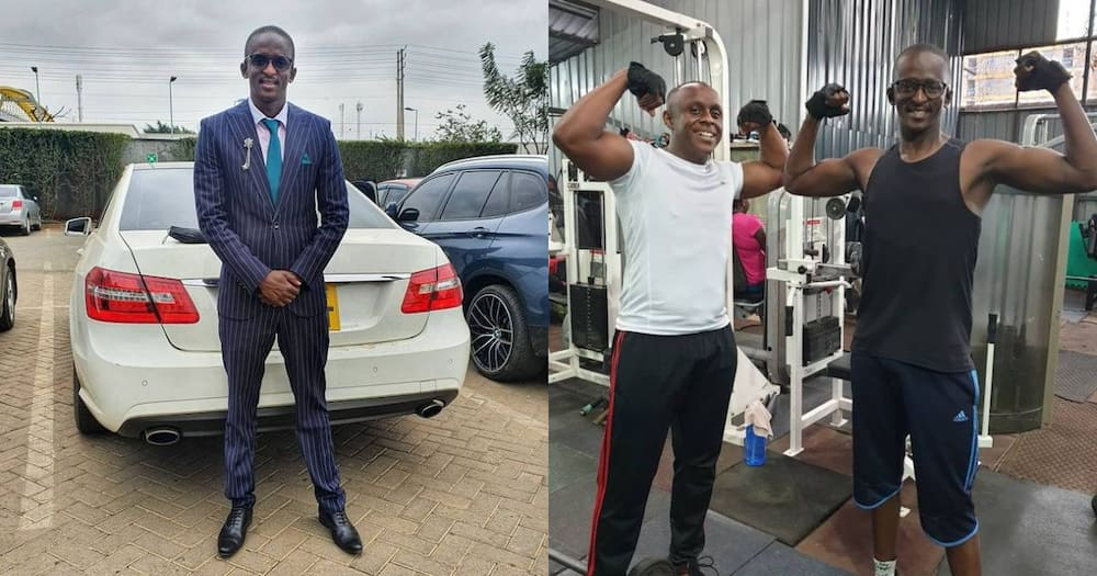 Njugush hits the gym to maintain his new look.